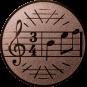 Emblem 25mm Notenschlüssel 3/4, bronze