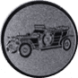 Emblem 25mm Oldtimer, silber
