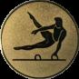 Emblem 25mm Pauschenpferd, gold