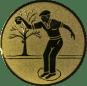 Emblem 25mm Petanque männl., gold