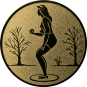 Emblem 25mm Petanque weibl., gold
