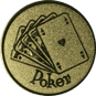 Emblem 25mm Poker, gold