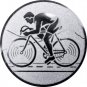 Emblem 25mm Rennrad, silber