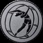 Emblem 25mm Rhönrad, silber