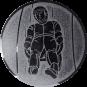 Emblem 25mm Rodeln, silber