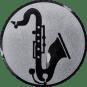Emblem 25mm Saxophone, silber