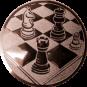 Emblem 25mm Schach, bronze