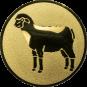 Emblem 25mm Schaf, gold