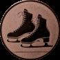 Emblem 25mm Schlittschuhe, bronze