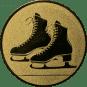 Emblem 25mm Schlittschuhe, gold