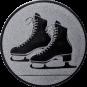 Emblem 25mm Schlittschuhe, silber