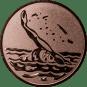 Emblem 25mm Schwimmer Rücken, bronze
