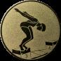 Emblem 25mm Schwimmer Startsprung, gold