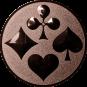 Emblem 25mm Skat, bronze