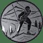 Emblem 25mm Ski Langlauf, silber