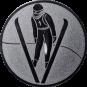 Emblem 25mm Skispringer, silber