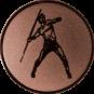 Emblem 25mm Speerwerfer, bronze