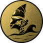 Emblem 25mm Surfer, gold