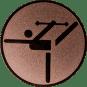 Emblem 25mm Tänzer mit Stab, bronze