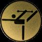 Emblem 25mm Tänzer mit Stab, gold