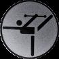 Emblem 25mm Tänzer mit Stab, silber