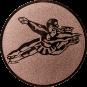 Emblem 25mm Tänzer Spagat, bronze