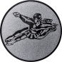 Emblem 25mm Tänzer Spagat, silber