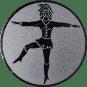 Emblem 25mm Tanzmariechen, silber