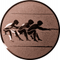 Emblem 25mm Tauziehen, bronze