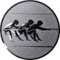 Emblem 25mm Tauziehen, silber