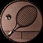 Emblem 25mm Tennisschläger, bronze