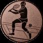 Emblem 25mm Tennisspieler, bronze