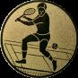 Emblem 25mm Tennisspieler, gold