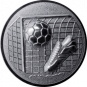Emblem 25mm Tor, Fußball, Schuh, 3D, silber