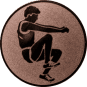 Emblem 25mm Weitspringer, bronze
