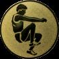 Emblem 25mm Weitspringer, gold