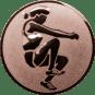 Emblem 25mm Weitspringerin, bronze