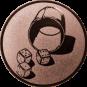 Emblem 25mm Würfelbecher, bronze