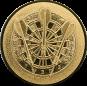 Emblem 25mm Dartscheibe 3D, gold