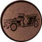 Emblem 50mm Oldtimer, bronze