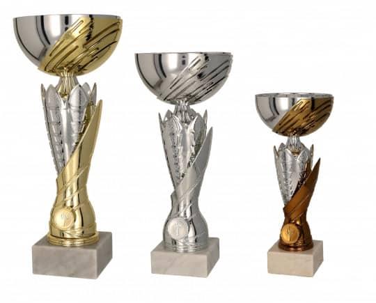 Pokale 3er Serie TRY4167 gold