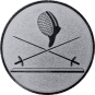 Emblem 50 mm 2 Florette Und Maske, silber