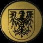 Emblem 50 mm Adlerwappen, gold