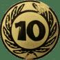 Emblem 50 mm Ehrenkranz mit 10, gold