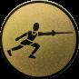 Emblem 50 mm Fechten, gold