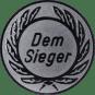 Emblem 50 mm Kranz Dem Sieger, silber
