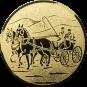Emblem 50 mm Kutsche, gold