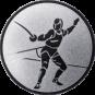Emblem 50 mm Säbelfechten, silber