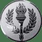 Emblem 50 mm Siegesfackel, silber
