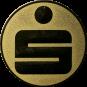 Emblem 50 mm Sparkasse, gold